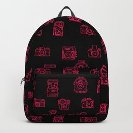 Camera: Pink - pop art illustration Backpack