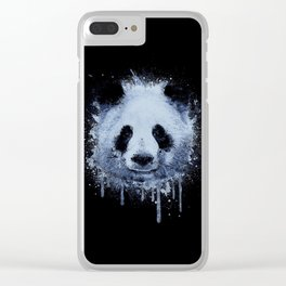 Painted Panda Clear iPhone Case