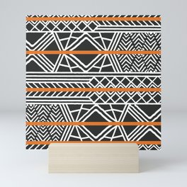 Tribal ethnic geometric pattern 022 Mini Art Print
