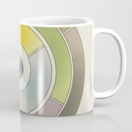 The theory of colouring - Diagram of colour by J. Bacon, 1866, Remake, vintage wash (no text) Coffee Mug