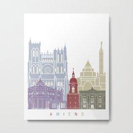 Amiens skyline poster Metal Print