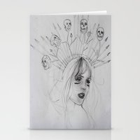 war Stationery Cards featuring War by Amelia Souva