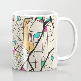 Colorful City Maps: Sheffield, England Coffee Mug