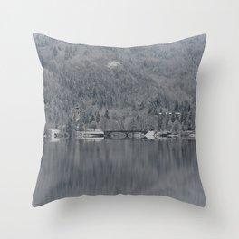 Church At Lake Bohinj Throw Pillow