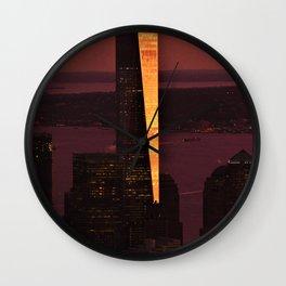 World Trade Sunset Wall Clock