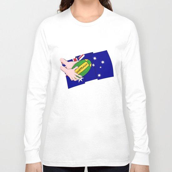 Australia Rugby Ball Long Sleeve T-shirt