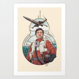 Poe Dameron Art Print