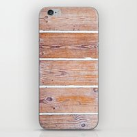 wooden iPhone & iPod Skins featuring Wooden Boards by Patterns and Textures