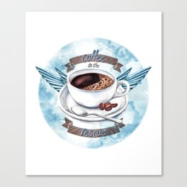 Coffee To The Rescue Canvas Print