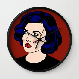 SAD GIRLS CLUB MEMBER AUDREY HORNE Wall Clock