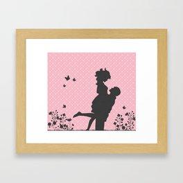 Aimer Silhouette  Framed Art Print