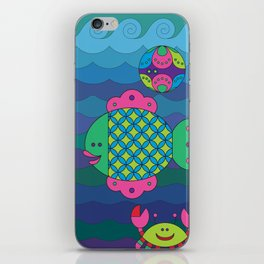 Stylize fantasy fishes under water. iPhone Skin