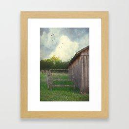 Rustic Summer Barnyard Framed Art Print
