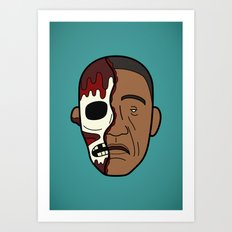 Faces of Breaking Bad: Gustavo Fring (Face-Off) Art Print