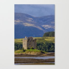 Castle Stalker Argyll, Scotland Canvas Print