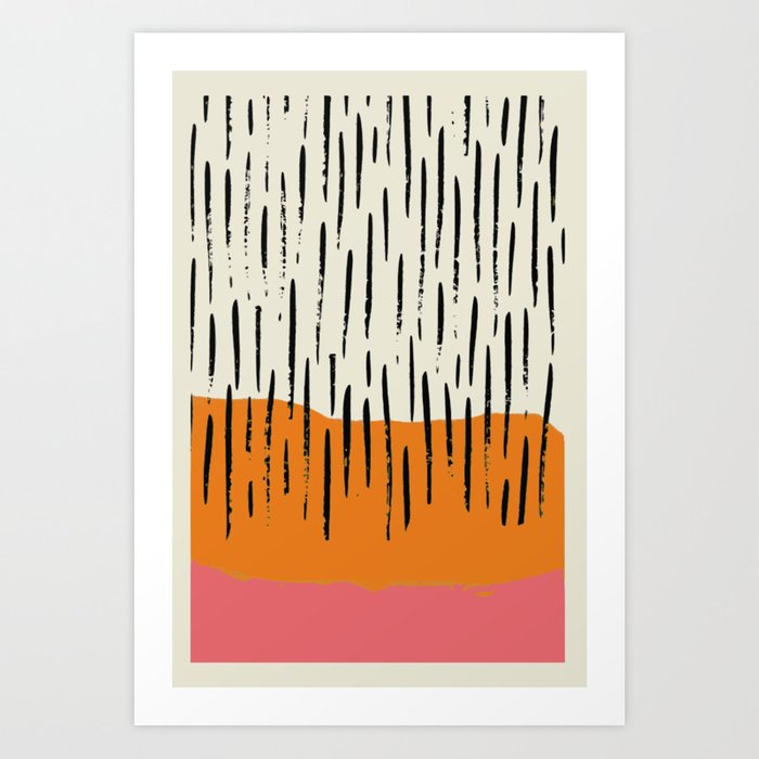 Lines abstract color box Art Print by deanng