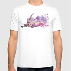 In which there is a rabbit-splosion  MEDIUM White Mens Fitted Tee