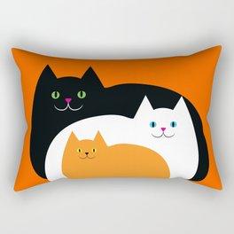 Halloween Cat Family Rectangular Pillow