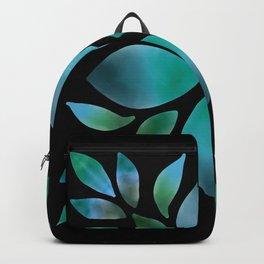 Mandala Green leaves Backpack