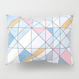 Triangle Pattern no.17 Light Blues Pillow Sham