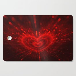 Cupid's Arrows | Valentines Day | Love Red Black Heart Texture Pattern Cutting Board