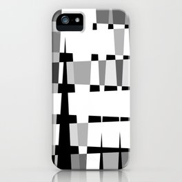 Little Boxes of Black & White iPhone Case