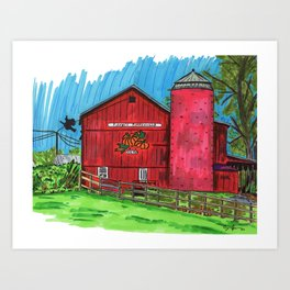 Finney's Pumpkinville Art Print
