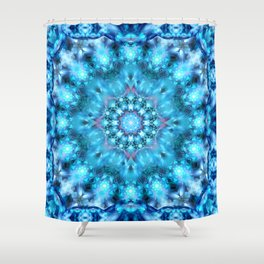 Cosmic Window Mandala Shower Curtain
