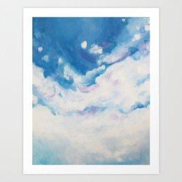 descending clouds Art Print
