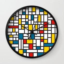 MONDRIAN EXTREME Wall Clock