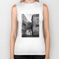 madrid Biker Tanks featuring Madrid Walkings by PabloEgM