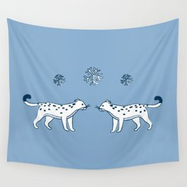 snow leopard pals Wall Tapestry