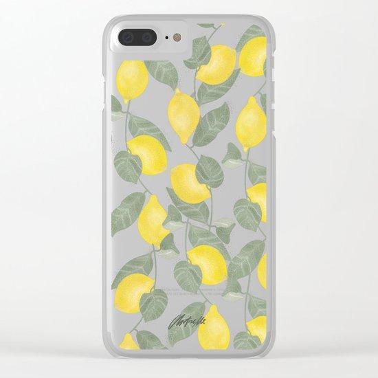 Citrus Pattern Clear iPhone Case