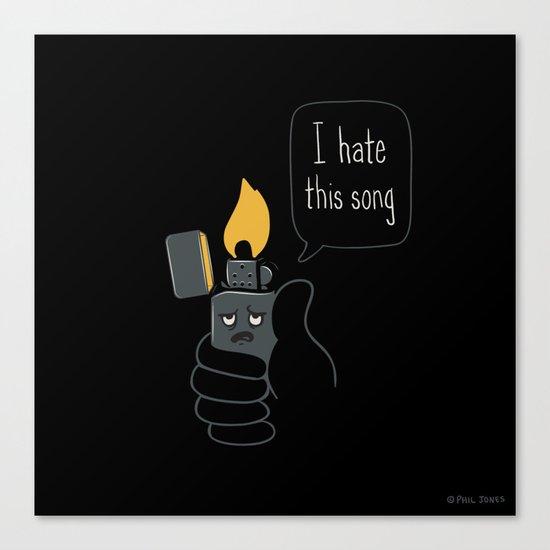 Mad Music Lighter Canvas Print