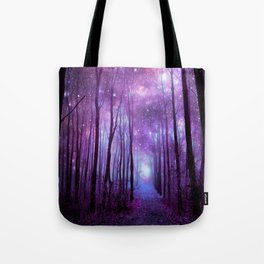 Fantasy Forest Path Purple Pink Tote Bag