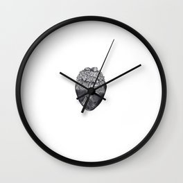Lilac Heart Wall Clock