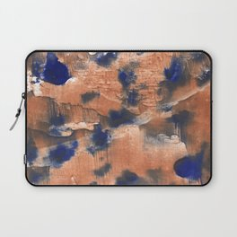 Peach Blue colorful watercolor design Laptop Sleeve