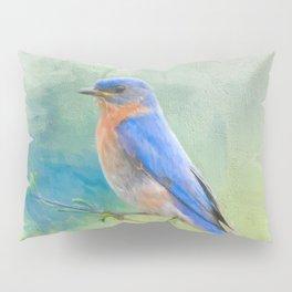 Bluebird In The Garden Pillow Sham