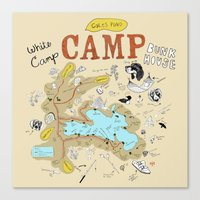 camp Canvas Prints featuring camp by AJE Custom Shop