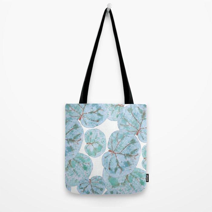 Sea Grape Tropical Leaves Tote Bag