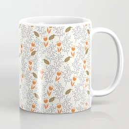 Orange Flowers Coffee Mug