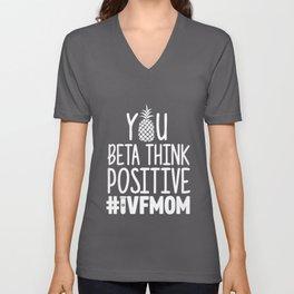 Womens IVF Gift Warrior Mom Positive Transfer Infertility print product Unisex V-Neck