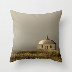 Cabo Espichel at sunset Throw Pillow