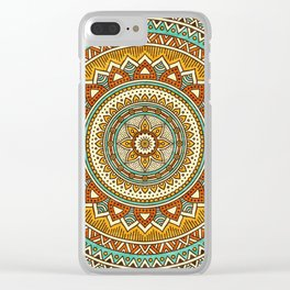 Hippie Mandala 10 Clear iPhone Case