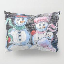 Snowman Family Pillow Sham