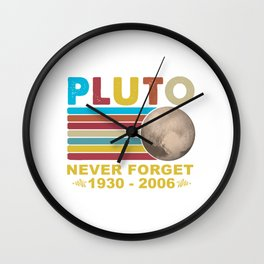 Pluto Never Forget 1930 - 2006 Space Science Outfit Wall Clock