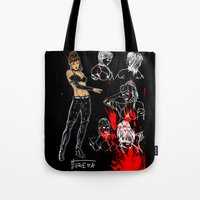 avenger Tote Bags featuring Avenger Mother by Alessandro Turetta