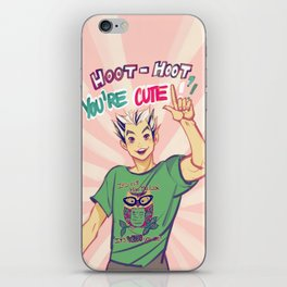 Hoot hoot you're cute! iPhone Skin