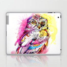Neon Northern Pygmy Owl Laptop & iPad Skin