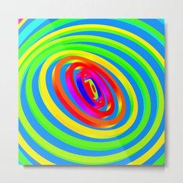 Colorful Concentric Rings Metal Print